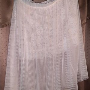 Victoria's Secret off white sheer and lace skirt.
